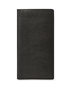 Fossil® Ingram Leather Executive Checkbook Wallet