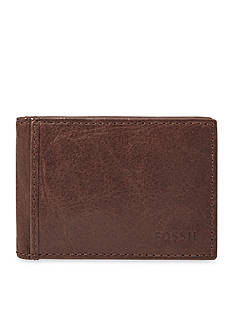 Fossil® Ingram Leather Money Clip Bifold Wallet