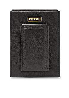 Fossil® Omega Leather Magnetic Card Case Wallet