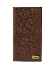 Fossil® Omega Leather Executive Checkbook Wallet