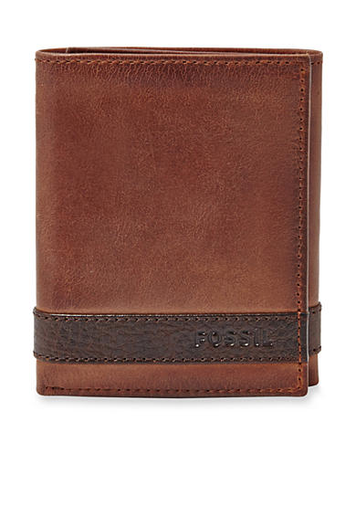 Fossil® Quinn Leather Trifold Wallet