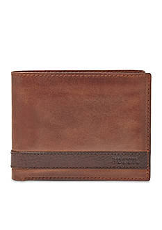 Fossil Quinn Leather L-Zip Bifold Wallet