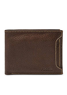 Fossil Lincoln Leather 2 In 1 Bifold Wallet