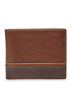 Fossil® Ian Leather Bifold With Flip ID Wallet