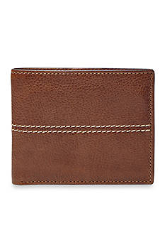 Fossil® Turk Leather Bifold With Flip ID Wallet