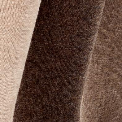 Mens Dress Socks: Brown Calvin Klein 3-Pack Flat Knit Dress Socks