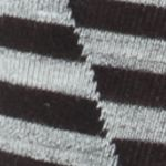 Designer Socks for Men: Black Calvin Klein Broken Stripe Print Crew Socks - Single Pair