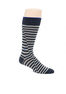 Calvin Klein Broken Stripe Print Crew Socks - Single Pair