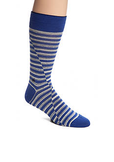 Calvin Klein Broken Stripe Print Crew Socks - Single Pair