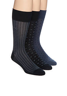Calvin Klein Mercerized Pattern Socks - Three Pack