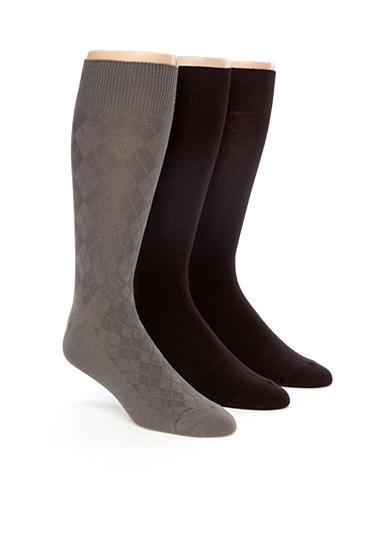 calvin klein 3 pack textured dress socks belk. Black Bedroom Furniture Sets. Home Design Ideas