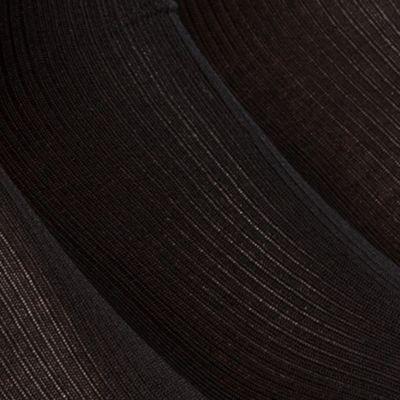 Black Designer Socks for Men: Black Calvin Klein Non-Elastic Dress Sock 3-Pack