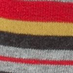 Designer Socks for Men: Red Calvin Klein Multi-Color Stripe Crew Socks - Single Pair