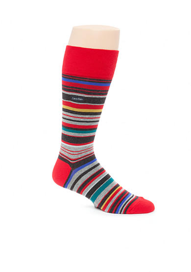 Calvin Klein Multi-Color Stripe Crew Socks - Single Pair