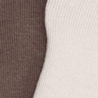 Black Designer Socks for Men: Tan/Brown Calvin Klein No Show Cushion Liner Socks - 2 Pack