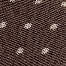 Mens Casual Socks: Brown Calvin Klein Giza Cotton Pin Dot Print Crew Socks - Single Pair