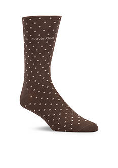 Calvin Klein Giza Cotton Pin Dot Print Crew Socks - Single Pair