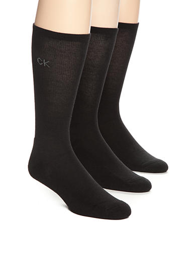 Calvin Klein Pima Cotton Crew Socks - 3 Pack