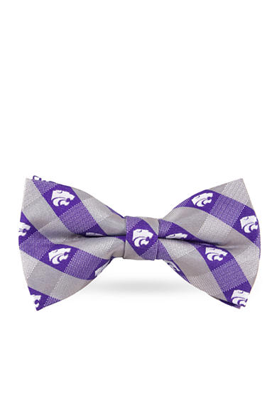 Eagles Wings Kansas State Wildcats Check Pre-tied Bow Tie