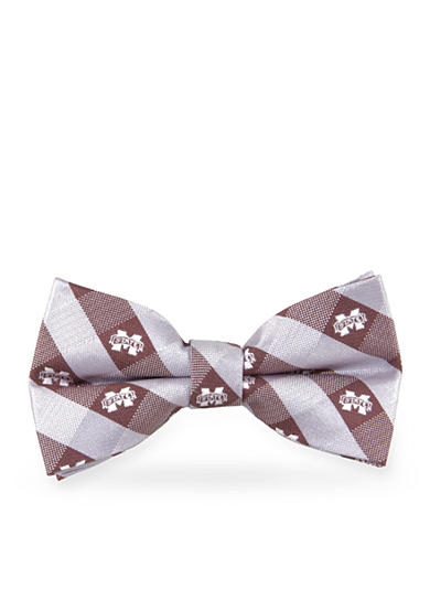 Eagles Wings Mississippi State Bulldogs Check Pre-tied Bow Tie