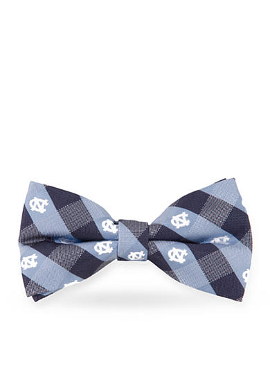 Eagles Wings UNC Tar Heels Check Pre-tied Bow Tie