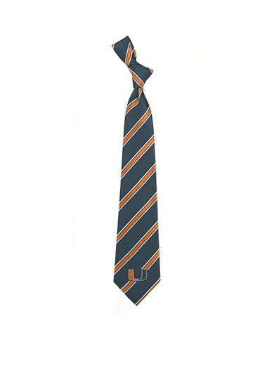 Eagles Wings Miami Hurricanes Woven Poly 1 Tie