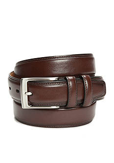 Madison 1.25-in. Milled Leather Feather Edge Belt with Stitching