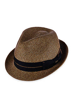 Scala™ Tweed Paper Braid Fedora Hat