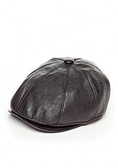 Scala™ Faux Leather Ivy Cap