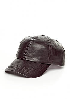 Scala™ Faux Leather Baseball Cap