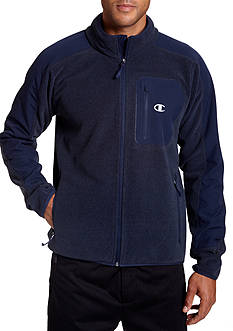 Champion Textured Fleece Water Repellent Full Zip Jacket
