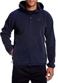 Champion Hooded Textured Fleece Jacket
