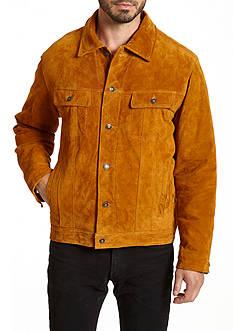Excelled Men's Faux Leather Racer Jacket.