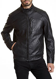 Excelled Faux Leather Moto Jacket