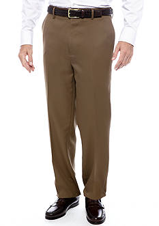 Saddlebred Big & Tall Straight Fit Flat Front Wrinkle Resistant Dress Pants