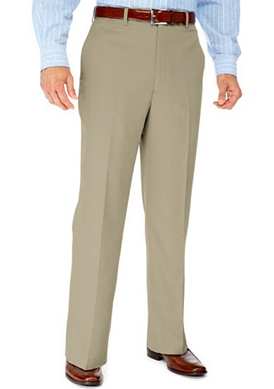 Saddlebred® Big & Tall Straight Fit Flat Front Wrinkle Resistant Dress Pants