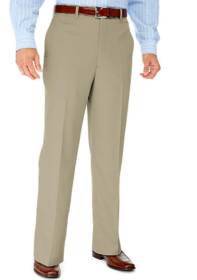 Saddlebred® Straight Fit Flat Front Wrinkle Resistant Dress Pants