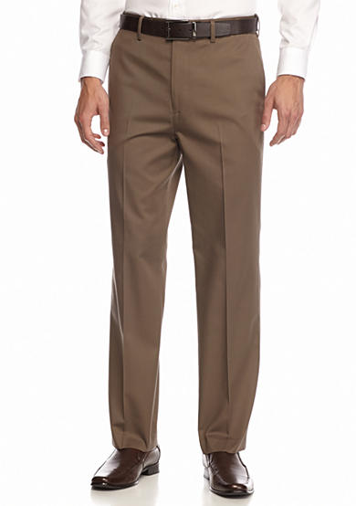 Saddlebred® Straight Fit Flat Front Comfort Waist Pants