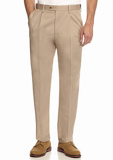 Saddlebred Straight Fit Single Pleat with Cuff Comfort Waist Pants