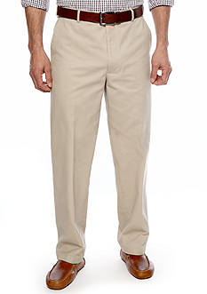 Saddlebred® Straight Fit Flat Front Wrinkle Resistant Pants