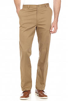 Saddlebred Straight-Fit Flat-Front Perfect Pants