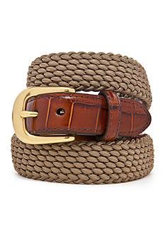 Brighton Leather Elastic Cord Belt