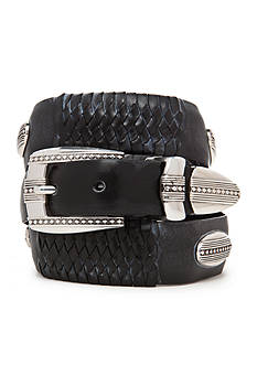 Brighton Eastwood Leather Ornament Taper Belt