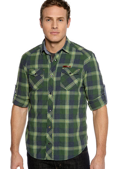 BUFFALO DAVID BITTON Sachion Plaid Shirt