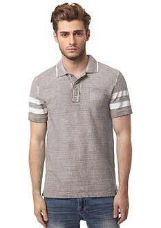 Buffalo David Bitton Short Sleeve Nagilvnt Slub Stripe Polo