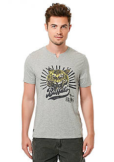 BUFFALO DAVID BITTON Nision Short Sleeve Tiger Notch Neck Graphic Tee