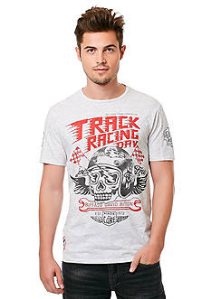 BUFFALO DAVID BITTON Nastyle Short Sleeve Track Racing Day Crew Neckline Graphic Tee