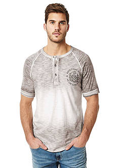 BUFFALO DAVID BITTON Nilet Ombre Short Sleeve Henley Shirt