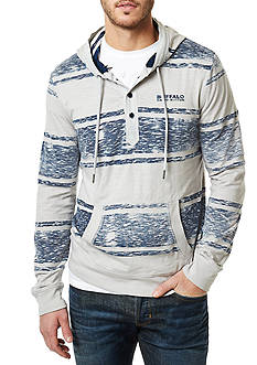BUFFALO DAVID BITTON Nidark Striped Buffalo Drawstring Hoodie