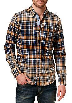 BUFFALO DAVID BITTON Salim Spray Wash Plaid Shirt